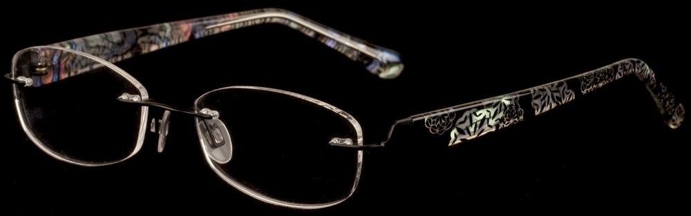 SHEER TITANIUM TSO 02 Rimless Glasses InternetSpecs.co.uk