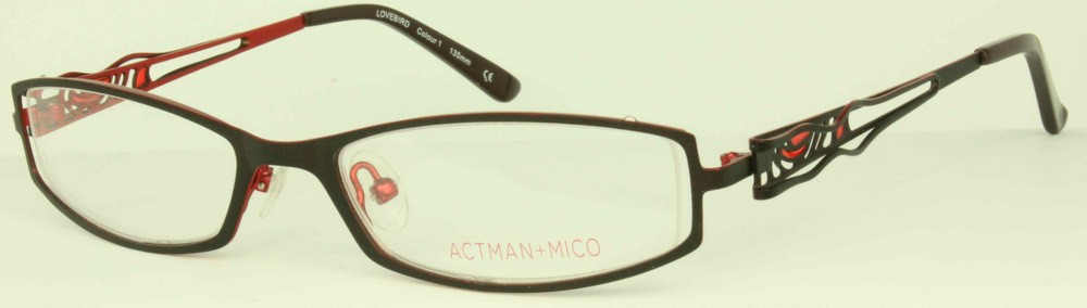 Rimless Distance Glasses : ACTMAN & MICO LOVEBIRD Designer Glasses (Semi-Rimless ...