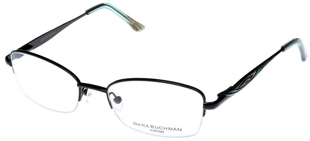 Rimless Glasses Edge Polish : DANA BUCHMAN CAIRA Semi-Rimless Glasses InternetSpecs.co.uk