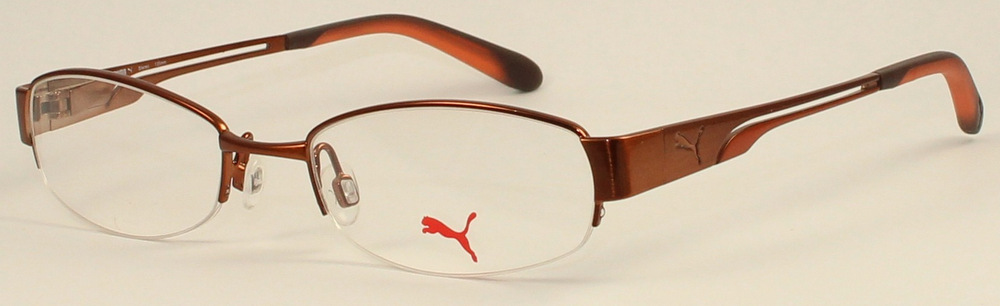 Rimless Distance Glasses : PUMA STEREO PU 15255 Semi-Rimless Glasses InternetSpecs ...
