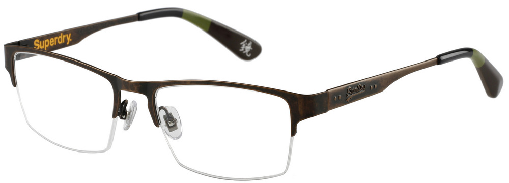 Rimless Distance Glasses : SUPERDRY JIMMY Semi-Rimless Glasses InternetSpecs.co.uk