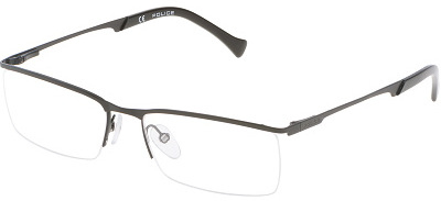 Rimless Distance Glasses : POLICE VPL 059 Semi-Rimless Glasses InternetSpecs.co.uk