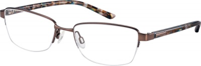 ELLE 'EL 13451' Semi-Rimless Glasses<br>(Metal & Plastic)