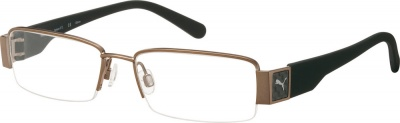 PUMA 'CARBON F 11' PU 15297 Prescription Glasses<br>(Metal & Carbon Fiber)