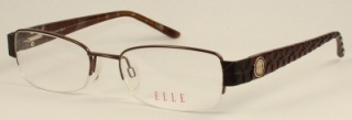 ELLE 'EL 18792' Semi-Rimless Glasses<br>(Metal & Plastic)