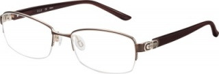 ELLE 'EL 13390' Semi-Rimless Glasses<br>(Metal & Plastic)