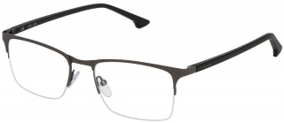 POLICE VPL 397 Semi-Rimless Glasses<br>(Metal & Plastic)