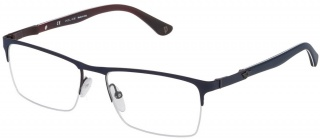 POLICE VPL 465 Semi-Rimless Glasses<br>(Metal & Plastic)