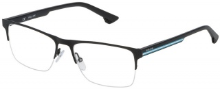 POLICE VPL 478 Semi-Rimless Glasses<br>(Metal & Plastic)